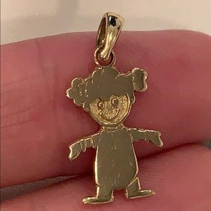 14k yellow gold little girl pendant charm